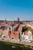 Vieille ville de Danzig, Pologne photos stock
