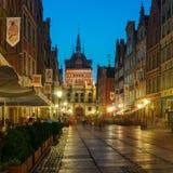 Vieille ville de Danzig, Pologne images libres de droits