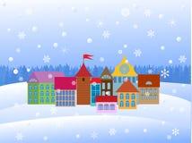 Vieille ville de dessin animé Images libres de droits