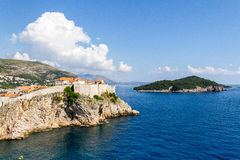 Vieille ville de Dubrovnik, Croatie images libres de droits