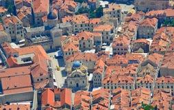 Vieille ville de Dubrovnik d'en haut Images stock