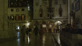Vieille ville de Dubrovnik par nuit clips vidéos