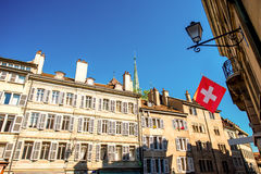 Vieille ville de Genève Photo libre de droits