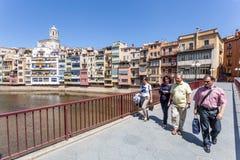 Vieille ville de Girona, Espagne Image libre de droits