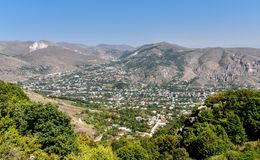 Vieille ville de Goris, Arménie Photos stock