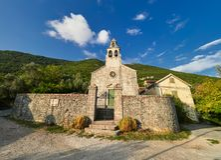 Vieille ville de Gornja Lastva près de Tivat, Monténégro images libres de droits