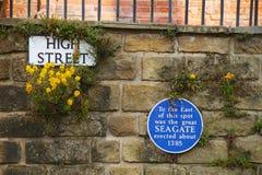 Vieille ville de Hastings, R-U Image libre de droits