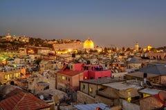 Vieille ville de Jérusalem et d'Esplanade des mosquées, Israël Image stock