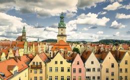 Vieille ville de Jelenia Gora, Pologne Images stock