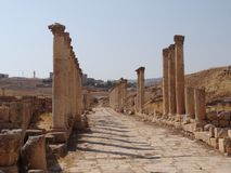 Vieille ville de Jerash Photos stock