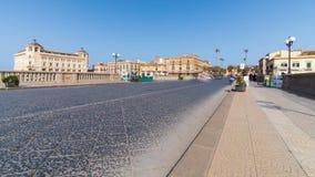 Vieille ville de l'Italie, Sicile, Syracuse, pont l'Europe banque de vidéos