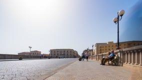 Vieille ville de l'Italie, Sicile, Syracuse, vieux pont l'Europe clips vidéos