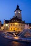 Vieille ville de la Roumanie de Transylvanie photographie stock