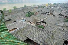 Vieille ville de langzhong chinois Photos stock
