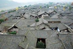 Vieille ville de langzhong chinois Photo stock