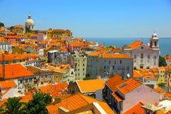 Vieille ville de Lisbonne, Portugal Photos stock