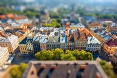 Vieille ville de Lviv en Ukraine Photographie stock