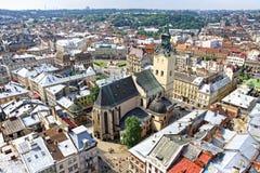 Vieille ville de Lviv, Ukraine images stock