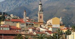 Vieille ville de Menton, France, la Côte d'Azur banque de vidéos