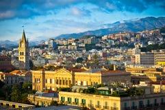 Vieille ville de Messine, Sicile, Italie Image stock