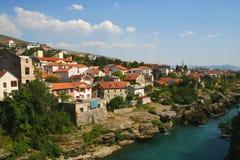Vieille ville de Mostar Photos libres de droits