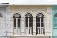 Vieille ville de Phuket : Bâtiments Sino-portugais d'architecture Ce style architectural est Européen mélangé à moderne chinois,  photo libre de droits