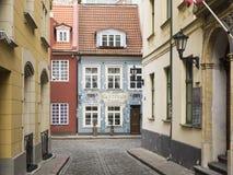 Vieille ville de Riga au printemps Images libres de droits