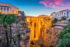Vieille ville de Ronda, Espagne image stock