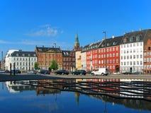 vieille ville de rue de Copenhague Danemark Image stock