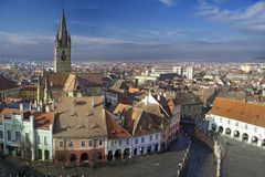 Vieille ville de Sibiu Image libre de droits