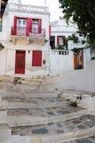 Vieille ville de Skopelos photo stock