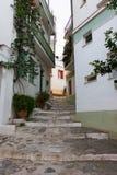 Vieille ville de Skopelos photos libres de droits