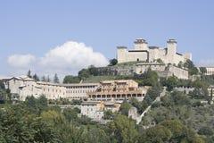 Vieille ville de Spoleto Photos libres de droits