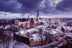 Vieille ville de Tallinn Image libre de droits