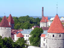 Vieille ville de Tallinn, Estonie Photo stock