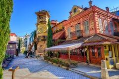 Vieille ville de Tbilisi, la Géorgie Photos stock