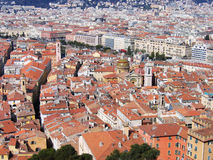 Vieille ville de toit rouge Photographie stock libre de droits