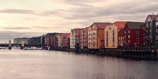Vieille ville de Trondheim Photographie stock