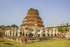 Vieille ville de ville d'Ayutthaya en Thaïlande Photos libres de droits