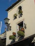 Vieille ville de Windows Mostar dans le bih Image libre de droits