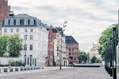 Vieille ville de Wroclaw Les bâtiments historiques un matin d'été sur une liberté ajustent Abaissez la Silésie, Pologne, l'Europe image stock