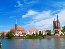 Vieille ville de Wroclaw, Pologne photo libre de droits