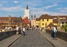 Vieille ville de Wurtzbourg, un site de patrimoine mondial de l'UNESCO photo libre de droits