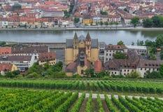 Vieille ville de Wurtzbourg, un site de patrimoine mondial de l'UNESCO images libres de droits