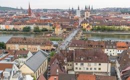 Vieille ville de Wurtzbourg, un site de patrimoine mondial de l'UNESCO photographie stock