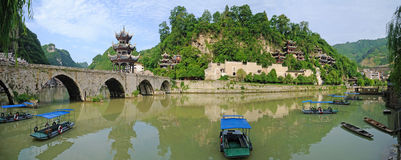 Vieille ville de Zhenyuan Images stock