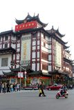 Vieille ville dynamique de Nanshi à Changhaï, Chine Image libre de droits