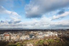 Vieille ville à Edimbourg en Ecosse Vue d'Edimbourg Castl Images libres de droits
