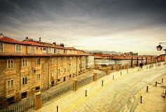Vieille ville en Espagne Photos stock