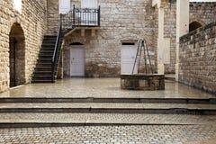 Vieille ville en pneu Image libre de droits